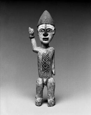 Kongo. Standing Male Figure, late 19th or early 20th century. Wood, pigment, metal, 8 1/2 x 2 1/2 x 1 1/2in. (21.6 x 6.4 x 3.8cm). Brooklyn Museum, Museum Expedition 1922, Robert B. Woodward Memorial Fund, 22.102. Creative Commons-BY