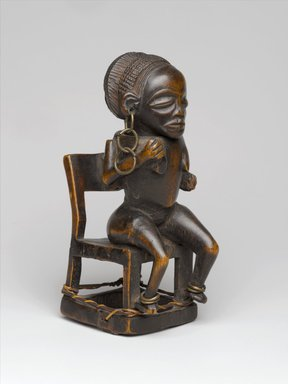 Chokwe. Snuff Container (Tesa Ya Ma Kanya), 19th century. Wood, iron, fiber , 5 1/2 x 2 3/16 x 3 in. (14 x 5.5 x 7.6 cm). Brooklyn Museum, Museum Expedition 1922, Robert B. Woodward Memorial Fund, 22.1089. Creative Commons-BY