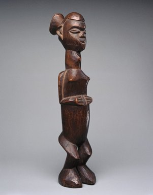 Teke. Standing Female Figure (Buti), 19th or 20th century. Wood, 11 1/4 x 2 1/2 x 3 1/4in. (28.6 x 6.4 x 8.3cm). Brooklyn Museum, Museum Expedition 1922, Robert B. Woodward Memorial Fund, 22.111. Creative Commons-BY