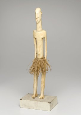 Mangbetu. Figure of a Standing Male, late 19th or early 20th century. Ivory, fiber, 14 x 2 1/8 x 3 1/4 in. (35.6 x 5.4 x 8.3 cm). Brooklyn Museum, Museum Expedition 1922, Robert B. Woodward Memorial Fund, 22.1260. Creative Commons-BY