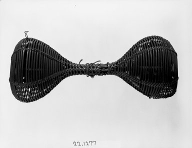 Chokwe. Double Basket Rattle (Musambo), late 19th or early 20th century. Rattan, seeds, 12 1/4 x 5 1/8 in. (31.2 x 13.0 cm). Brooklyn Museum, Museum Expedition 1922, Robert B. Woodward Memorial Fund, 22.1277. Creative Commons-BY