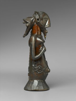 Luba. Kabwelulu Gourd Figure, 19th century. Wood, metal, 7 3/4 x 2 7/8 x 2 3/4 in. (19.7 x 7.3 x 7 cm). Brooklyn Museum, Museum Expedition 1922, Robert B. Woodward Memorial Fund, 22.1454. Creative Commons-BY