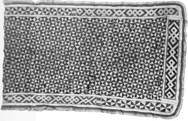 Kuba. Textile, late 19th or early 20th century. Textile, cotton, skin, 21 5/8 x 68 7/8 in. (55 x 175 cm). Brooklyn Museum, Museum Expedition 1922, Robert B. Woodward Memorial Fund, 22.1523. Creative Commons-BY