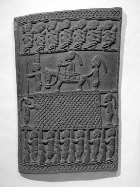 Master of Ikare. Door (Ilekun), late 19th century. Iroko wood, 48 x 31 3/16 x 1 1/4 in. (121.9 x 79.2 x 3.2 cm). Brooklyn Museum, Museum Expedition 1922, Robert B. Woodward Memorial Fund, 22.1526. Creative Commons-BY