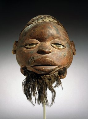 Makonde. Lipiko Mask, 19th century. Wood, human hair, fiber, pigment, 13 x 10 1/4 x 11 1/4 in. (33 x 26 x 28.6 cm). Brooklyn Museum, Museum Expedition 1922, Robert B. Woodward Memorial Fund, 22.1588. Creative Commons-BY