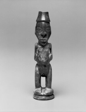 Kongo. Standing Female Figure, late 19th or early 20th century. Ivory, 5 1/2 x 1 1/4 x 1 1/2 in. (14.0 x 3.0 x 4.0 cm). Brooklyn Museum, Museum Expedition 1922, Robert B. Woodward Memorial Fund, 22.1594. Creative Commons-BY