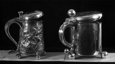 Benjamin Smith. Tankard, mid 17th century. Silver, Height including thumb-piece: 8 3/4 in. (22.2 cm). Brooklyn Museum, Gift of Reverend Alfred Duane Pell, 22.1794. Creative Commons-BY
