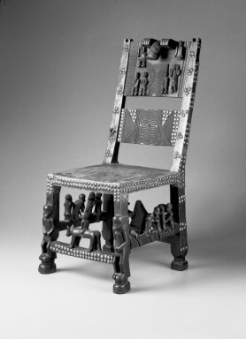 Chokwe. Chief's Chair, 19th century. Copper alloy, animal hide, wood, 26 3/4 x 12 x 15 1/2 in. (67.9 x 30.5 x 39.4 cm). Brooklyn Museum, Museum Expedition 1922, Robert B. Woodward Memorial Fund, 22.187. Creative Commons-BY