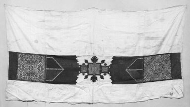 Embroidered Curtain Border. Linen Brooklyn Museum, Museum Expedition 1922, Robert B. Woodward Memorial Fund, 22.1955.17. Creative Commons-BY