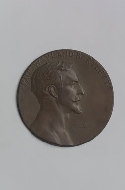John Flanagan (American, 1865-1952). Portrait Medal of Paul Wayland Bartlett, 1917. Bronze, 4 11/16 x 4 11/16 x 3/16 in. (11.9 x 11.9 x 0.5 cm). Brooklyn Museum, Robert B. Woodward Memorial Fund, 22.1958.1. Creative Commons-BY