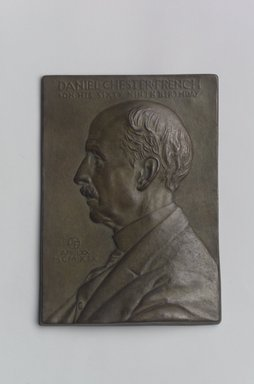 John Flanagan (American, 1865-1952). Portrait Plaque of Daniel Chester French, 1919. Bronze, 5 1/2 x 3 7/8 x 7/16 in. (14 x 9.8 x 1.1 cm). Brooklyn Museum, Robert B. Woodward Memorial Fund, 22.1958.2. Creative Commons-BY