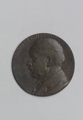John Flanagan (American, 1865-1952). Portrait Medal of Walter Griffin, 1919. Bronze, 4 5/8 x 4 5/8 x 3/8 in. (11.7 x 11.7 x 1 cm). Brooklyn Museum, Robert B. Woodward Memorial Fund, 22.1958.3. Creative Commons-BY