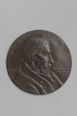 John Flanagan (American, 1865-1952). Portrait Medal of Joseph Pennell, 1919. Bronze, 4 11/16 x 4 11/16 x 1/8 in. (11.9 x 11.9 x 0.3 cm). Brooklyn Museum, Robert B. Woodward Memorial Fund, 22.1958.6. Creative Commons-BY