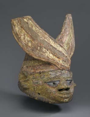 Yoruba. Gelede Mask, late 19th or early 20th century. Wood, pigment, 11 3/4 x 9 1/4 x 12 in.  (29.8 x 23.5 x 30.5 cm). Brooklyn Museum, Museum Expedition 1922, Robert B. Woodward Memorial Fund, 22.227. Creative Commons-BY
