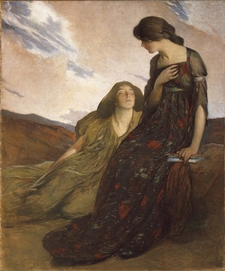 John White Alexander (American, 1856-1915). Memories, 1903. Oil on canvas, 62 1/16 x 52 1/16 in. (157.7 x 132.3 cm). Brooklyn Museum, Museum Collection Fund, 22.75
