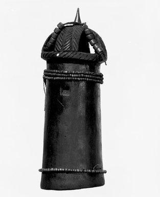 Luba. Twin Figure, late 19th or early 20th century. Wood, glass beads, leather tongs, fiber, metal pins, 7 7/8 x 2 3/4 x 2 3/4 in. (20 x 7 x 7 cm). Brooklyn Museum, Brooklyn Museum Collection, 22.815. Creative Commons-BY