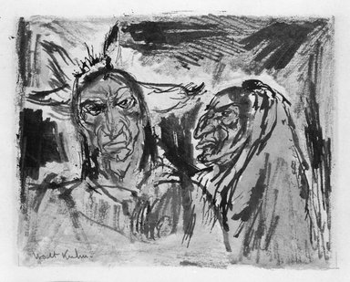 Walt Kuhn (American, 1877-1949). Indian Heads. Watercolor Brooklyn Museum, Gift of Mrs. Meredith Hare and other friends, 22.97