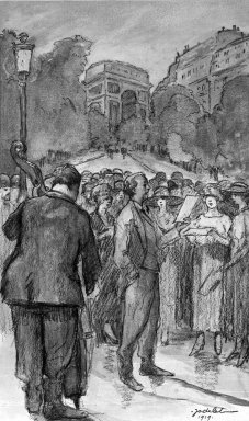 Emmanuel Charles Jodelet (French, 1883-1969). Paris Street Singers. Watercolor, 18 3/4 x 13 7/8 in.  (47.6 x 35.2 cm). Brooklyn Museum, Gift of Edward C. Blum, 23.102