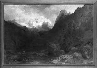 Carl Jungheim (German, 1830-1886). Dachstein, ca. 1863. Oil on canvas, 40 1/8 x 61 3/16 in.  (101.9 x 155.4 cm). Brooklyn Museum, Bequest of Elmira Shearman, 23.104