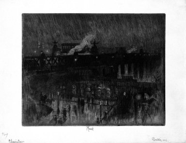 Brooklyn Museum: Rainy Night, Charing Cross Station
