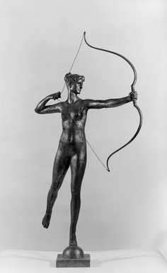 Augustus Saint-Gaudens (American, 1848-1907). Diana of the Tower, 1895. Gilded Bronze, 40 7/8 x 20 7/8 x 15 3/4 in. (103.8 x 53 x 40 cm). Brooklyn Museum, Robert B. Woodward Memorial Fund, 23.255. Creative Commons-BY