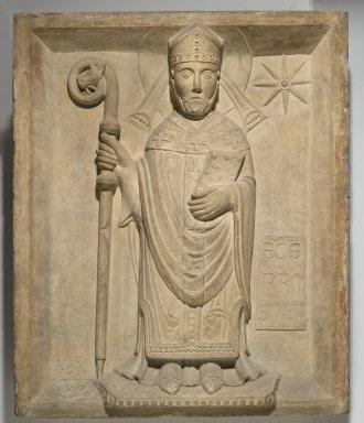 Italian, Emilian. Saint Prosper (San Prospero), 19th or early 20th century. Marble, 30 x 24 1/2 x 3 3/4 in., 148.5 lb. (76.2 x 62.2 x 9.5 cm, 67.4kg). Brooklyn Museum, Gift of De Motte, Inc., 23.25. Creative Commons-BY