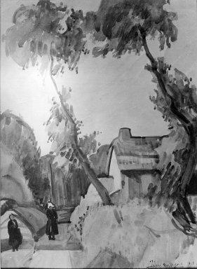 Jean Leleu-Bourgoin. Vendeen Lane. Watercolor, 12 13/16 x 9 1/2 in.  (32.5 x 24.1 cm). Brooklyn Museum, Gift of Mortimer L. Schiff, 23.43