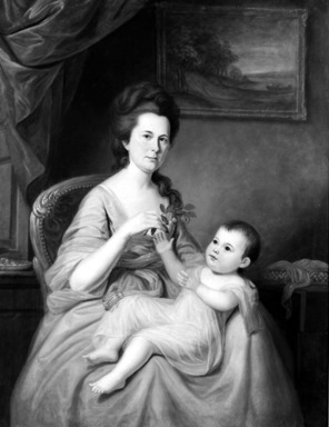 Charles Willson Peale (American, 1741-1827). Mrs. David Forman and Child, ca. 1785. Oil on canvas, 51 x 39 3/8 in. (129.5 x 100 cm). Brooklyn Museum, Carll H. de Silver and Museum Collection Fund, 23.51
