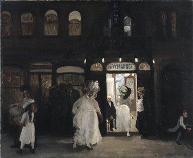John Sloan (American, 1871-1951). The Haymarket, Sixth Avenue, 1907. Oil on canvas, 26 1/8 x 34 13/16 in. (66.3 x 88.5 cm). Brooklyn Museum, Gift of Mrs. Harry Payne Whitney , 23.60