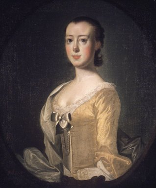 Jeremiah Theus (American, 1719-1774). Elizabeth Rothmahler, 1757. Oil on canvas, 29 13/16 x 24 15/16 in. (75.8 x 63.4 cm). Brooklyn Museum, Carll H. de Silver Fund, 23.61