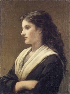 William Morris Hunt (American, 1824-1879). Study of a Female Head, 1872. Oil on canvas, 23 15/16 x 18 in. (60.8 x 45.7 cm). Brooklyn Museum, John B. Woodward Memorial Fund, 24.106