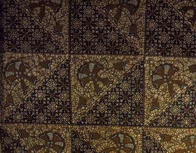 Batik. Cotton Brooklyn Museum, Ella C. Woodward Memorial Fund, 24.265. Creative Commons-BY