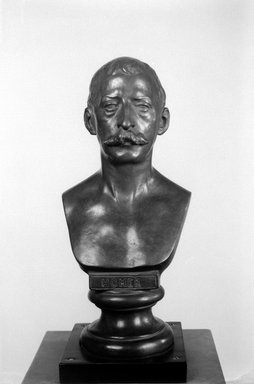 William R. O' Donovan (American, 1844-1920). Bust of Winslow Homer, 1876, cast ca. 1911. Bronze, 12 x 6 x 4 1/2 in. (30.5 x 15.2 x 11.4 cm). Brooklyn Museum, Museum Collection Fund, 24.429. Creative Commons-BY