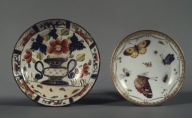 """""""Gaudy Dutch"""" Staffordshire Tea Bowl, ca. 1815-1820. Earthenware, 2 1/2 x 4 in. (6.4 x 10.2 cm). Brooklyn Museum, Gift of Mrs. George C. Perkins in memory of her mother, Mrs. Edward W. Avery, of Brooklyn, 24.446.1. Creative Commons-BY"""