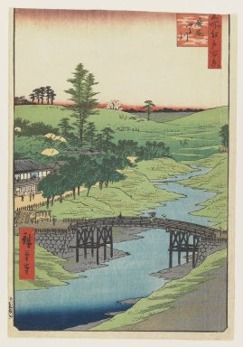 Utagawa Hiroshige (Ando) (Japanese, 1797-1858). Furukawa River, Hiroo, July, 1856. Woodblock print, Sheet: 13 3/8 x 9 1/4 in.  (34.0 x 23.5 cm);. Brooklyn Museum, Gift of Henry B. and Adrian Van Sinderen, 24.550.2