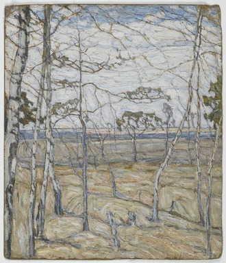 Abraham Manievich (Russian, 1881-1942). Birch Trees, 1911. Oil on canvas, 31 5/8 x 26 15/16 in. (80.3 x 68.4 cm). Brooklyn Museum, Museum Collection Fund, 24.63