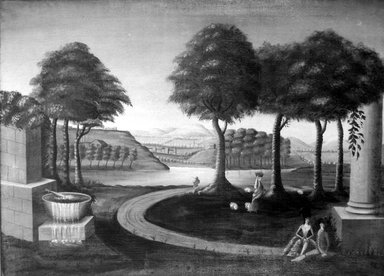 American. Decorative Landscape, After Michele Felice Corne, ca. 1820. Oil on canvas, 32 5/8 x 44 7/8 in. (82.8 x 114 cm). Brooklyn Museum, Henry L. Batterman Fund, 24.89