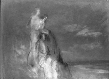 Arthur B. Davies (American, 1862-1928). The Spirit of the Dunes. Pastel on gray paper, 8 3/4 x 12 1/2 in. (22.2 x 31.8 cm). Brooklyn Museum, Gift of Frank L. Babbott, 24.90. © Estate of Arthur B. Davies