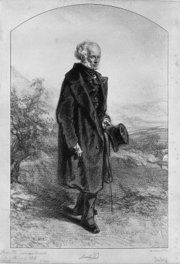 Paul Gavarni (French, 1804-1866). Jean-Baptiste Isabey, 1854. Lithograph on China paper laid down, 13 11/16 x 8 7/8 in. (34.8 x 22.5 cm). Brooklyn Museum, Gift of Frank L. Babbott, 25.142