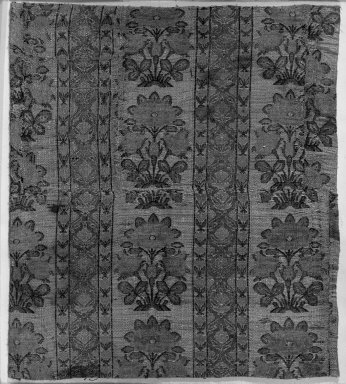 Two pieces of Brocade, 17th-18th century. Silk, cotton, metal threads, 18 3/16 x 18 3/16in. (46.2 x 46.2cm). Brooklyn Museum, 25.14. Creative Commons-BY