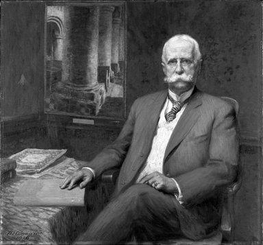 Wilford S. Conrow (American, 1880-1957). Professor William H. Goodyear, 1916. Oil on canvas, 42 1/8 x 45 7/8 in. (107 x 116.5 cm). Brooklyn Museum, Gift of Professor Arthur Kingsley Porter, 25.182