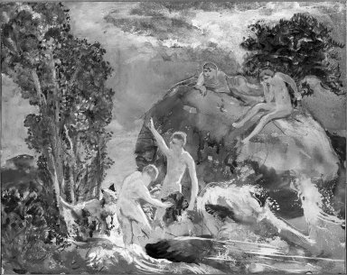 Alice Mumford Culin (American, 1875-1965). The Bathers, 19th century. Watercolor, Image: 14 3/4 x 18 5/16 in. (37.5 x 46.5 cm). Brooklyn Museum, Museum Collection Fund, 25.539