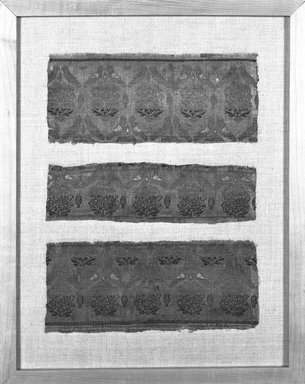Brocade Panel, 17th-18th century. Silk, Approximately: 14 9/16 in. (37 cm) square. Brooklyn Museum, Frederick Loeser Fund, 25.740. Creative Commons-BY