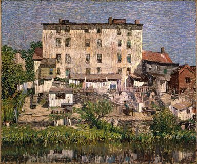 Robert Spencer (American, 1879-1931). The White Tenement, 1913. Oil on canvas, 30 x 36 3/16 in. (76.2 x 91.9 cm). Brooklyn Museum, John B. Woodward Memorial Fund, 25.761