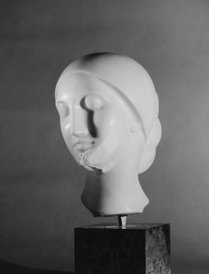 Elie Nadelman (American, 1882-1946). La Mysterieuse, ca. 1910. Marble, Head only: 13 3/8 x 9 x 10 1/2 in., 43 lb. (34 x 22.9 x 26.7 cm, 19.5kg). Brooklyn Museum, Robert B. Woodward Memorial Fund, 25.813. Creative Commons-BY