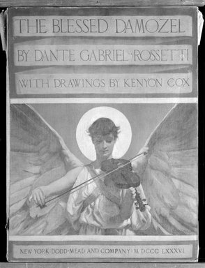 Kenyon Cox (American, 1856-1919). The Blessed Damozel: Title, 1886. Oil, grisaille on canvas, 24 x 18in. (61 x 45.7cm). Brooklyn Museum, Gift of Mrs. Daniel Chauncey, 25.840c