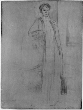 Julian Alden Weir (American, 1852-1919). Standing Figure, Number One, 1899. Etching on laid paper, 7 7/8 x 6 in. (20 x 15.2 cm). Brooklyn Museum, Gift of Elizabeth Luther Cary, 25.853