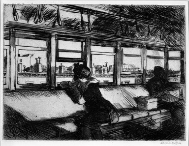 Edward Hopper (American, 1882-1967). Housetops, 1921. Etching Brooklyn Museum, 25.887