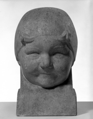 Robert Eloi (French). Head of a Little Girl, 1919. Stone, 11 x 7 x 7 1/2 in. (27.9 x 17.8 x 19.1 cm). Brooklyn Museum, Gift of Jules S. Bache, 25.901. Creative Commons-BY
