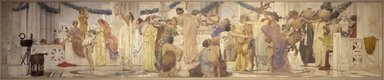 Robert Frederick Blum (American, 1857-1903). Vintage Festival, mid-1895 to 1898. Mural panel painting, 114 15/16 x 576in. (292 x 1463cm). Brooklyn Museum, Gift of Edward Severin Clark, Frederick Ambrose Clark, Robert Sterling Clark and Stephen Carlton Clark, 26.151